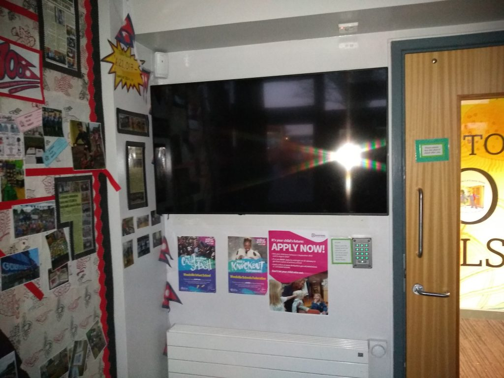 Sedao digital signage solution installed by Link ICT in a school.