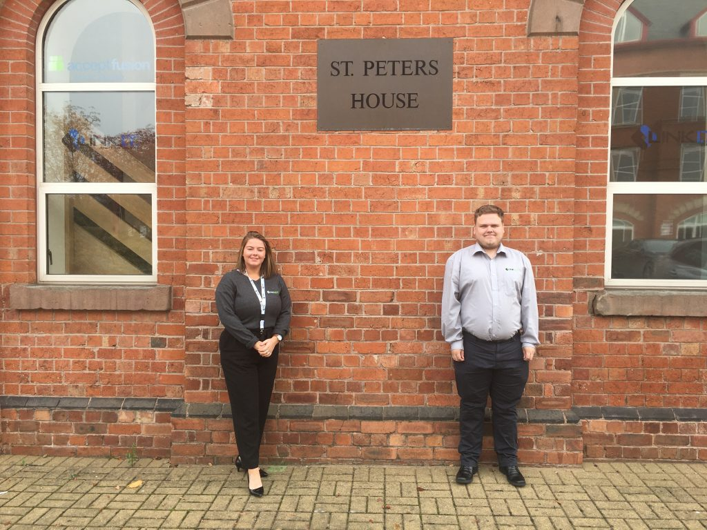 Link ICT Apprentices Danielle Poulter and Harry Barker